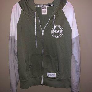 PINK Zip Up Sweatshirt‼️